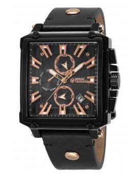 Montre Sergio Tacchini homme bracelet cuir noir
