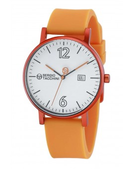 Montre Sergio Tacchini homme bracelet cuir orange