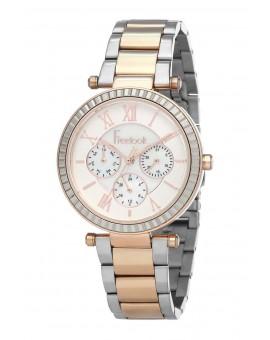 Montre Freelook femme bracelet acier argenté/IP Pink R.Gold