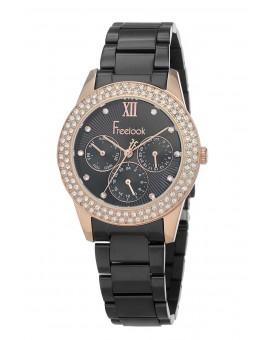 Montre Freelook femme bracelet aciernoir