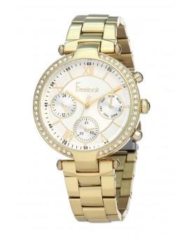 Montre Freelook femme bracelet acier doré
