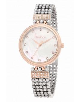 Montre Freelook femme bracelet acier rosé