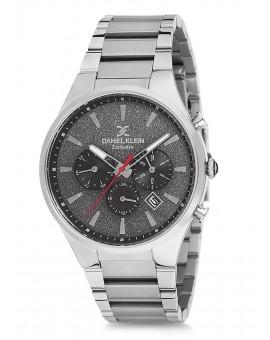 Montre Daniel Klein Homme Exclusive bracelet acier  fond noir