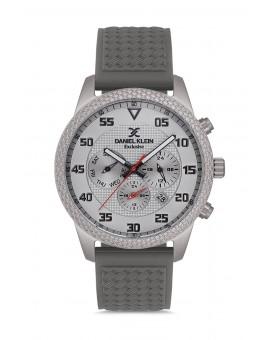 Daniel Klein Homme exclusive bracelet silicone gris fond gris