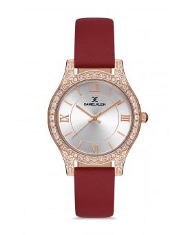Daniel Klein Femme bracelet cuir rouge fong gris