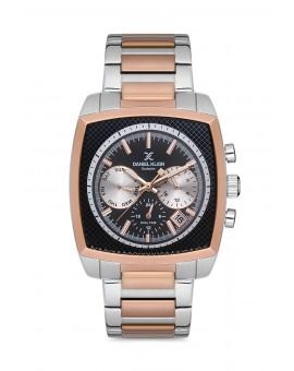 Daniel Klein Homme exclusive bracelet bicolore rose fond noir