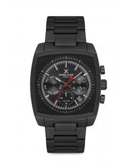 Daniel Klein Homme exclusive bracelet metal noir fond noir