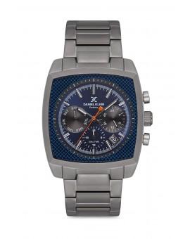 Daniel Klein Homme exclusive bracelet metal noir fond bleu
