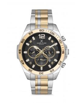 Daniel Klein Homme exclusive bracelet bicolore dore fond noir