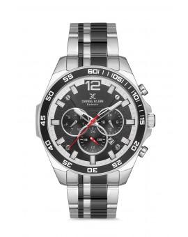 Daniel Klein Homme exclusive bracelet bicolore noir fond noir