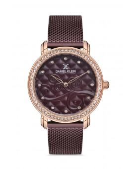 Daniel Klein Femme bracelet cuir bordeaux fond bordeaux
