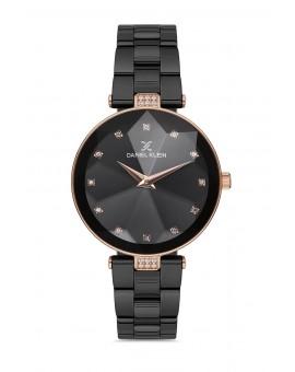Daniel Klein Femme bracelet mtal noir fond noir