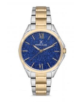 Daniel Klein Femme bracelet bicolore dore fond bleu