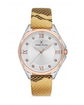 Daniel Klein Femme bracelet cuir zebre fond blanc