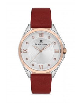 Daniel Klein Femme bracelet cuir rouge fond blanc