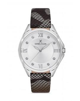 Daniel Klein Femme bracelet cuir gris fond gris