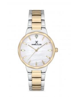 Daniel Klein Femme bracelet bicolore dore fond blanc