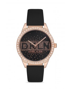Daniel Klein Femme bracelet cuir fond noir
