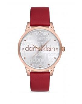 Daniel Klein Femme bracelet cuir rouge fond gris