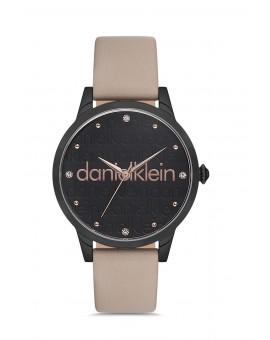 Daniel Klein Femme bracelet cuir beige fond noir
