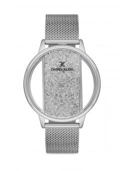 Daniel Klein Femme bracelet milanais silver fond gris