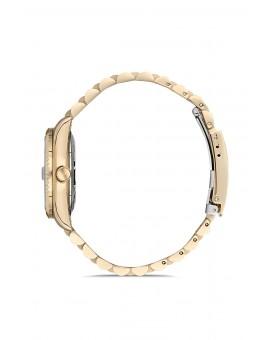 Montre femme bracelet doré dateur