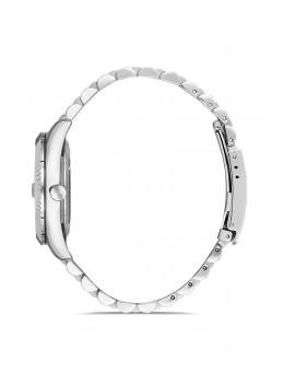 Montre femme bracelet métal dateur
