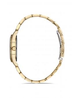 Montre femme bracelet metal doré