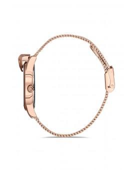 Montre femme bracelet milanais panthère rose