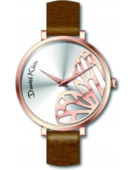 Montre femme Daniel Klein avec un bracelet cuir diamètre 3,2 cm, garantie 2 ans.