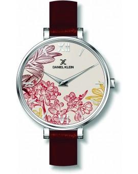 Montre avec design papillon pour femme Daniel Klein avec un bracelet cuir diamètre 3,2 cm, garantie 2 ans.