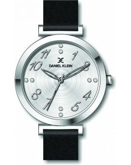 Montre chic pour femme Daniel Klein avec un bracelet cuir diamètre 3,2 cm, garantie 2 ans.
