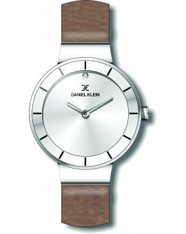 Montre pour femme Daniel Klein avec un bracelet cuir diamètre 3,2 cm, garantie 2 ans.