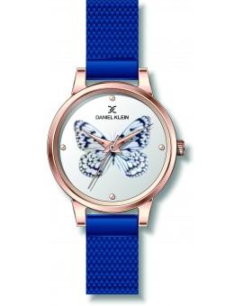Montre femme bracelet milanais Daniel Klein, diamètre 3,4 cm, garantie 2 ans.