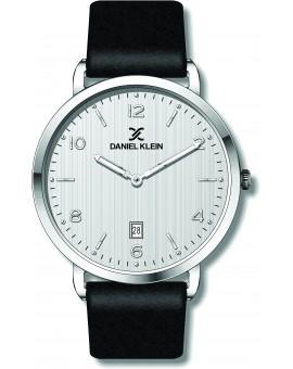 Montre cuir pour homme avec dateur Daniel Klein diamètre 4 cm, garantie 2 ans.