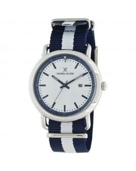 Montre bracelet nato pour homme avec dateur Daniel Klein diamètre 4 cm, garantie 2 ans.