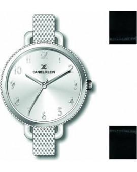 Coffret de montre femme Daniel Klein avec 1 bracelet interchangeable en cuir, garantie 2 ans.
