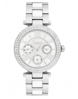 MONTRE FREELOOK METAL BICOLORE BLANC