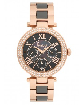 MONTRE FREELOOK METAL BICOLORE ROSEE