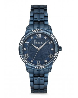 MONTRE FREELOOK METAL BLEUE