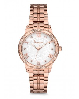 MONTRE FREELOOK METAL ROSE