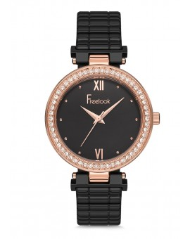MONTRE FREELOOK METAL NOIRE
